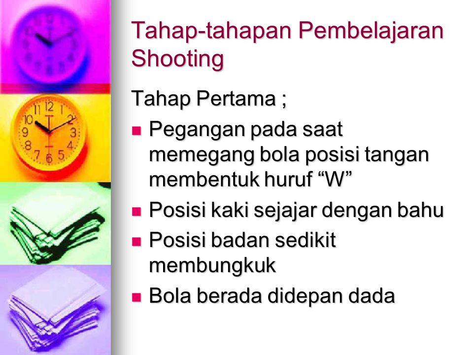 Tahap-tahapan Pembelajaran Shooting