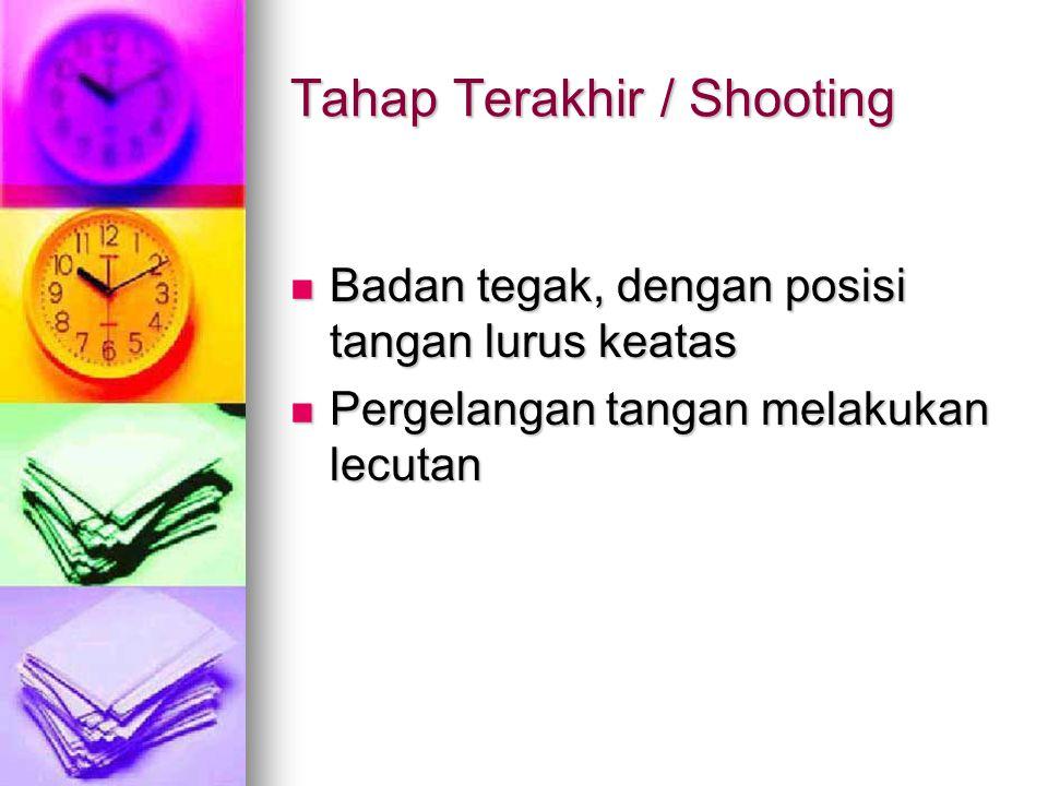 Tahap Terakhir / Shooting