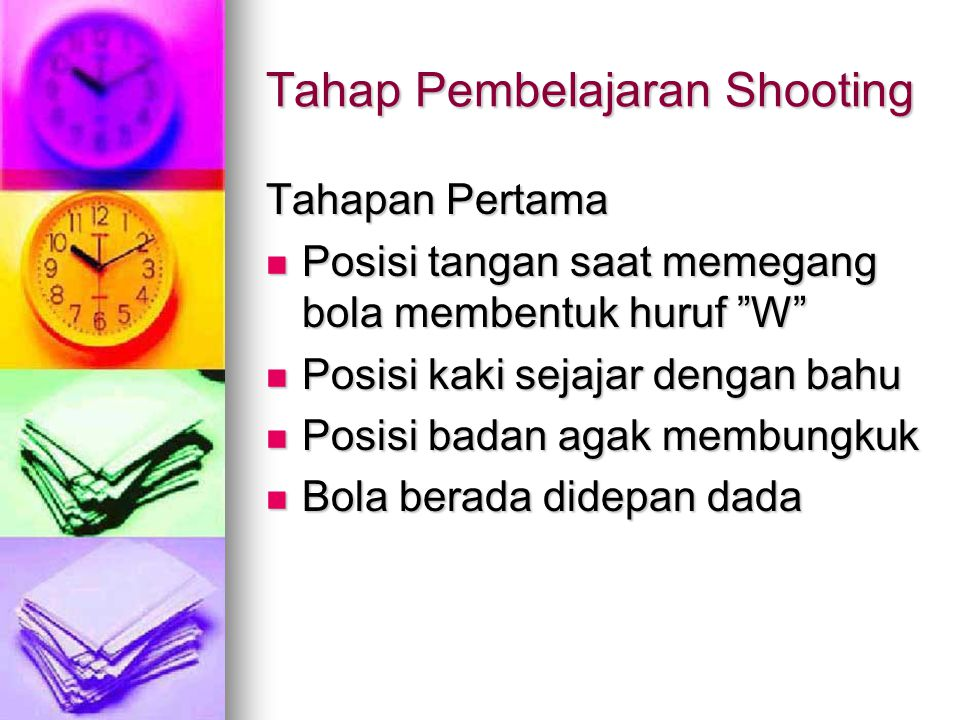 Tahap Pembelajaran Shooting