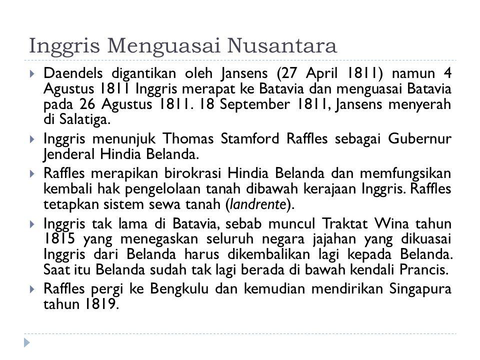 Inggris Menguasai Nusantara