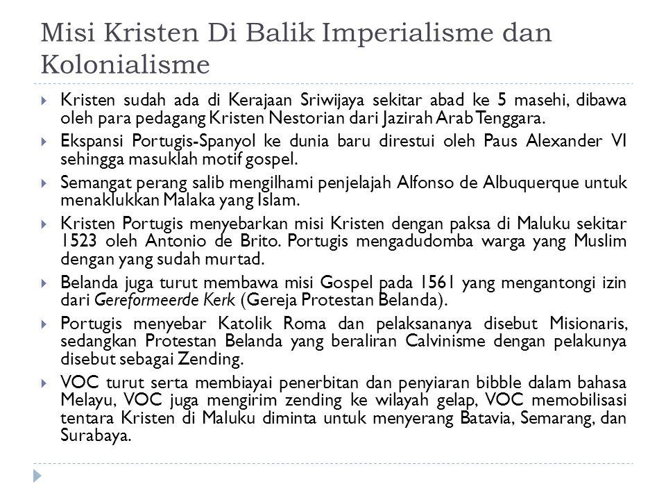 Misi Kristen Di Balik Imperialisme dan Kolonialisme