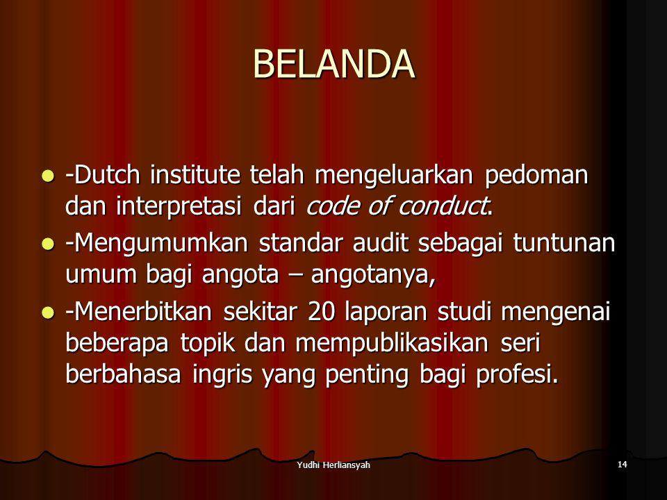 BELANDA -Dutch institute telah mengeluarkan pedoman dan interpretasi dari code of conduct.