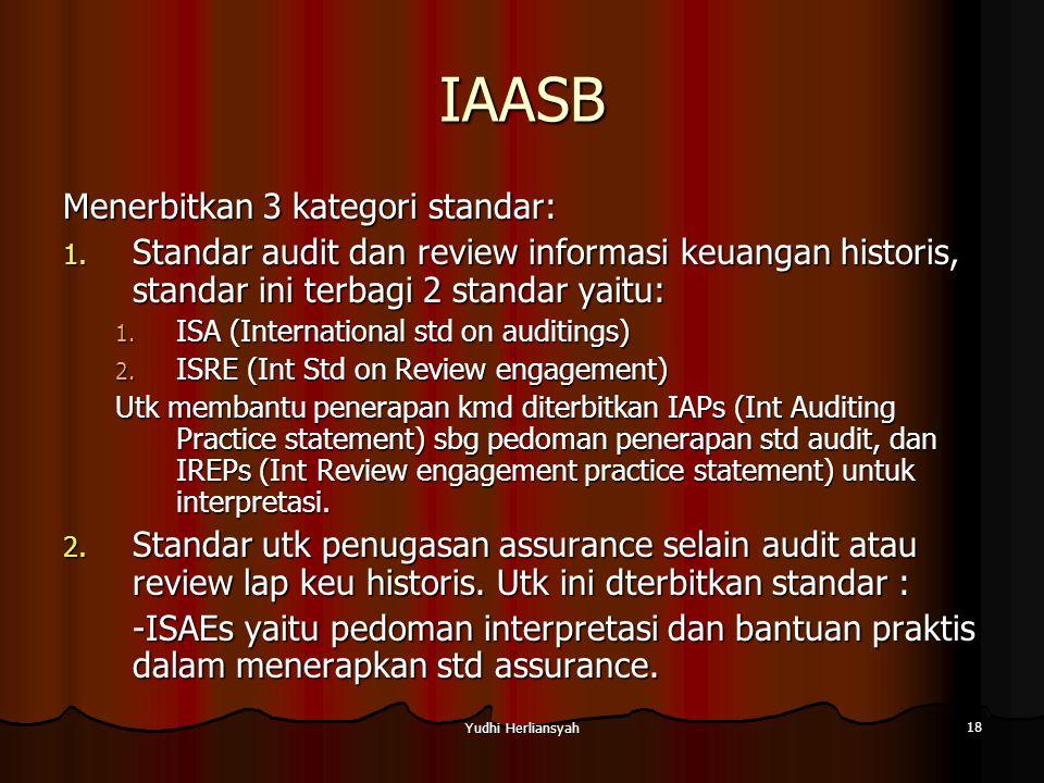 IAASB Menerbitkan 3 kategori standar: