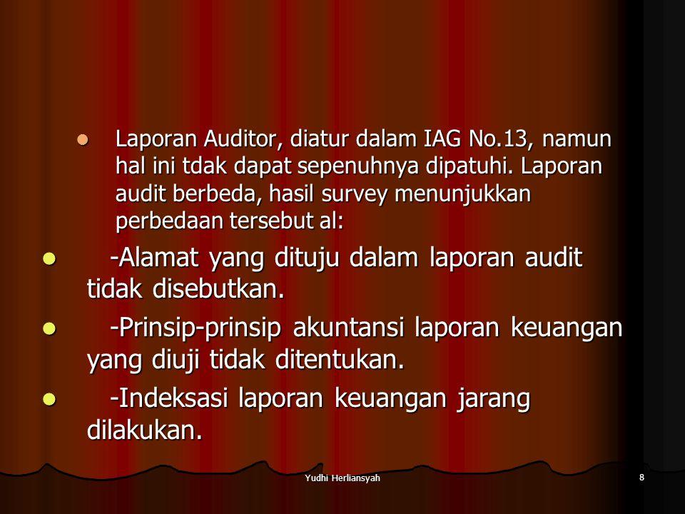 -Alamat yang dituju dalam laporan audit tidak disebutkan.