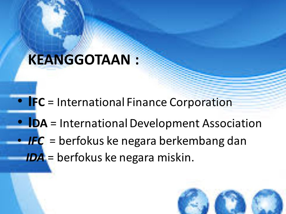 IFC = International Finance Corporation