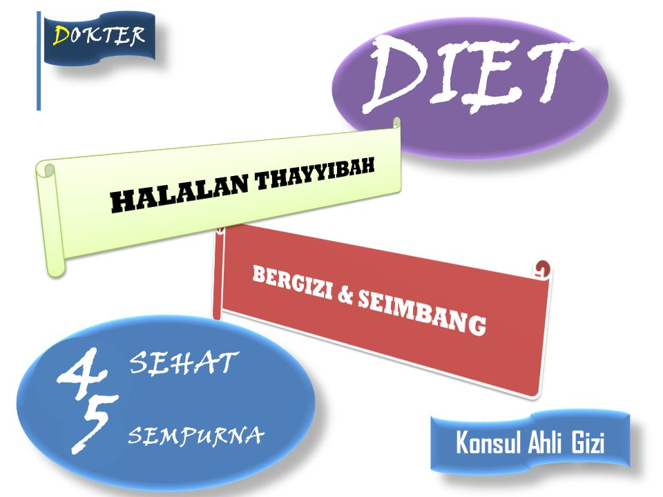 DIET 4 5 SEHAT SEMPURNA Konsul Ahli Gizi HALALAN THAYYIBAH