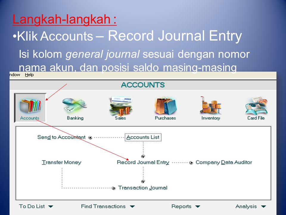 Klik Accounts – Record Journal Entry