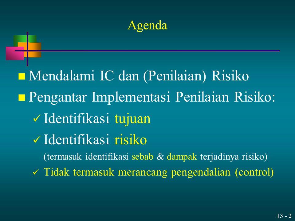 Mendalami IC dan (Penilaian) Risiko