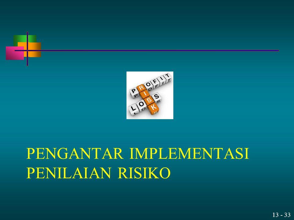 PENGANTAR Implementasi Penilaian Risiko