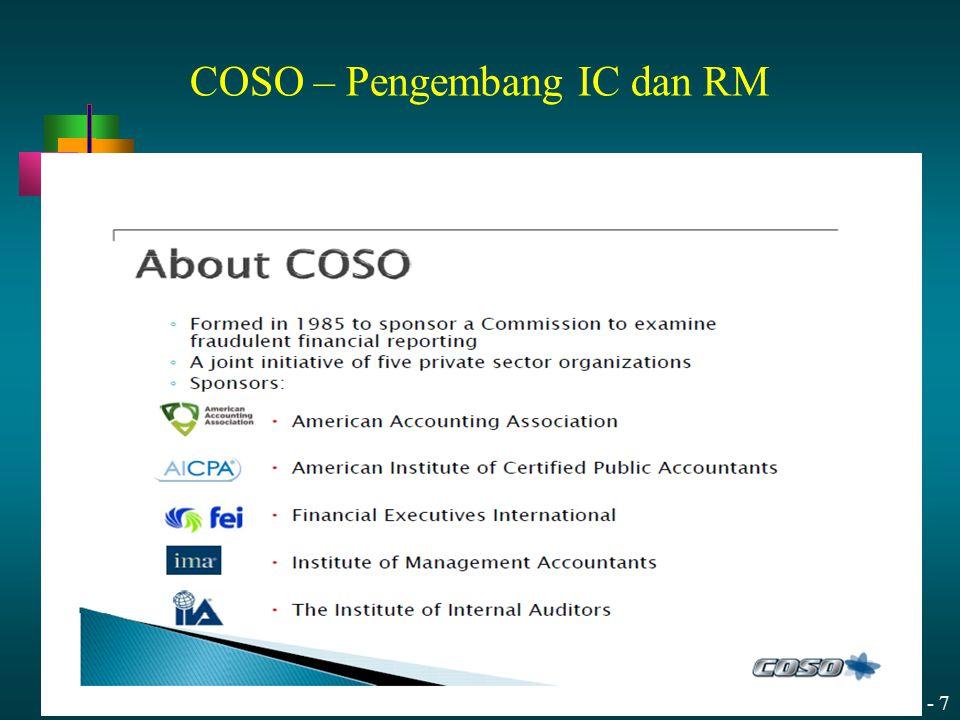 COSO – Pengembang IC dan RM