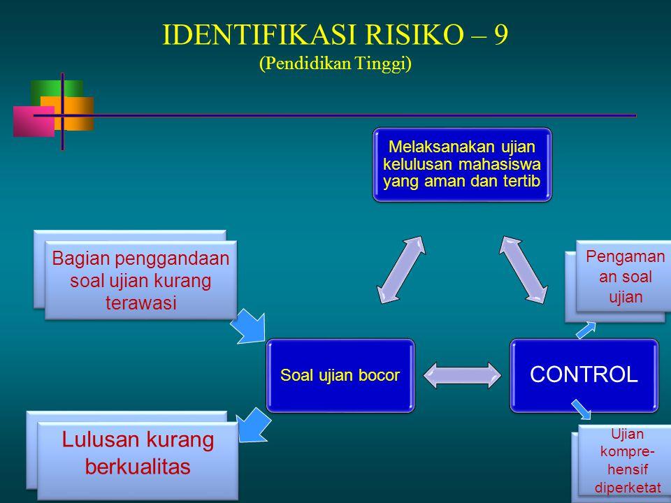 IDENTIFIKASI RISIKO – 9 (Pendidikan Tinggi)