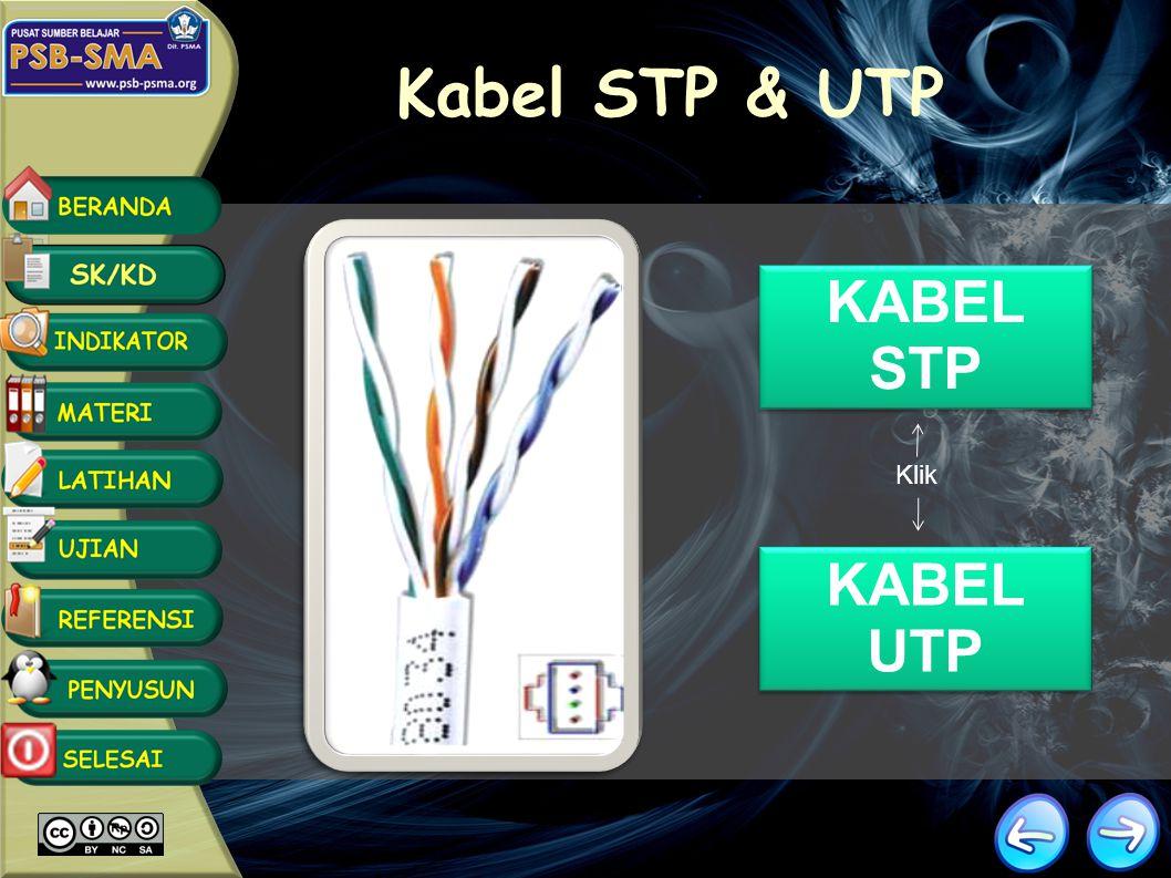 Kabel STP & UTP KABEL STP Klik KABEL UTP