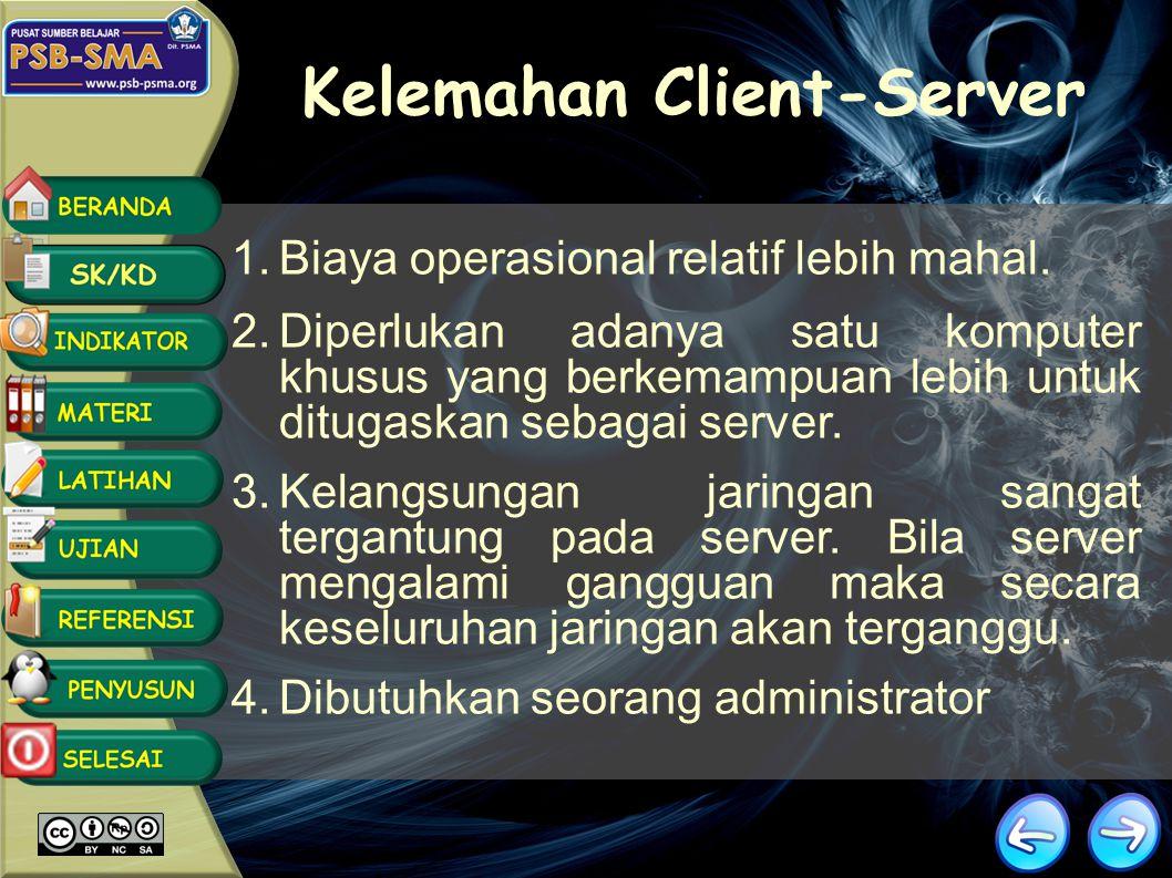 Kelemahan Client-Server