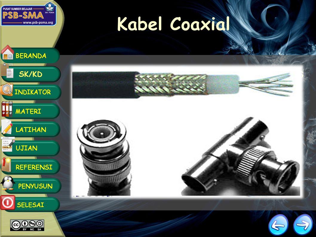 Kabel Coaxial Kecepatan dan keluaran: 10 -100 Mbps