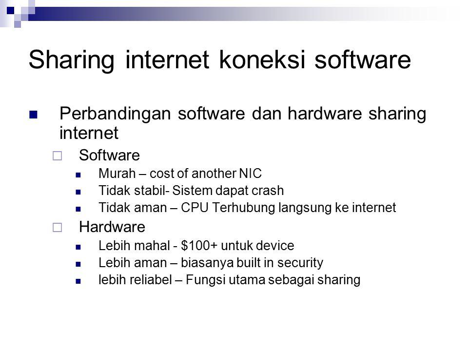 Sharing internet koneksi software