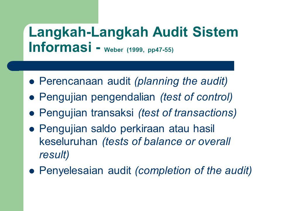 Langkah-Langkah Audit Sistem Informasi - Weber (1999, pp47-55)