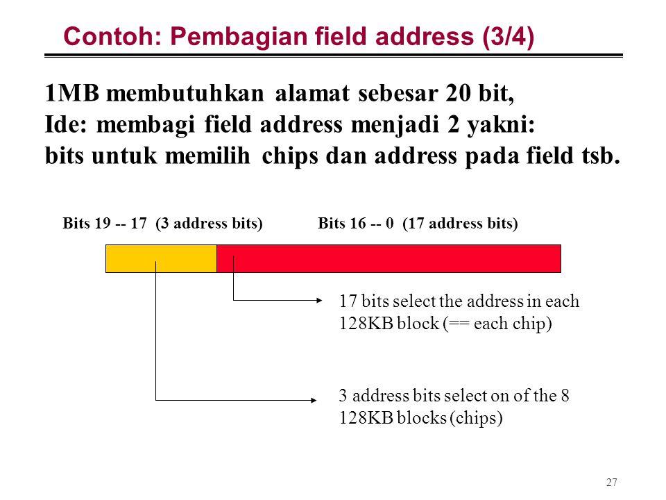 Contoh: Pembagian field address (3/4)