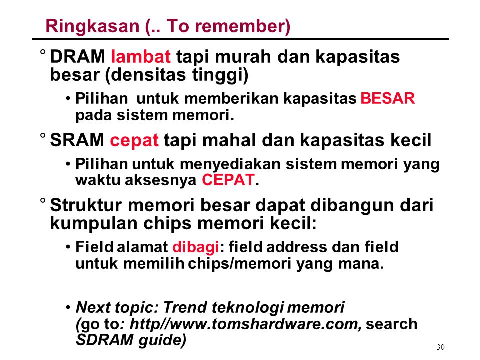 Ringkasan (.. To remember)