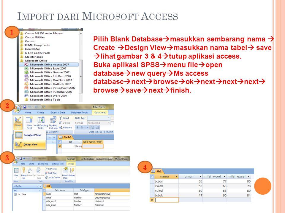 Import dari Microsoft Access