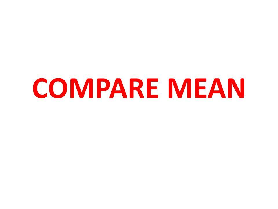 COMPARE MEAN