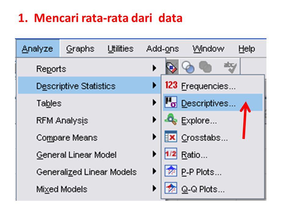 1. Mencari rata-rata dari data