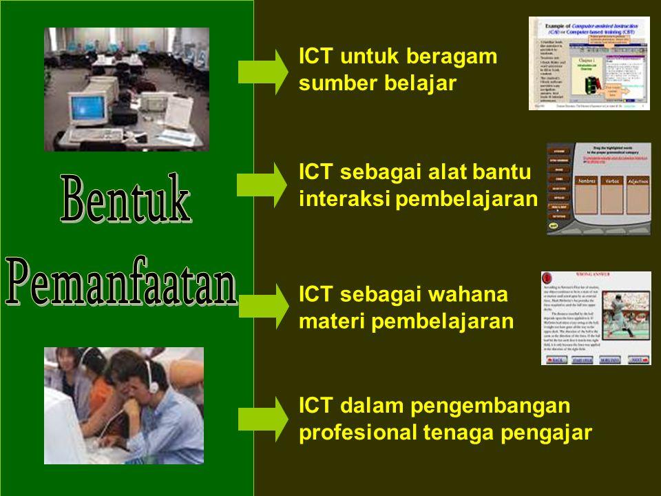 Bentuk Pemanfaatan ICT untuk beragam sumber belajar