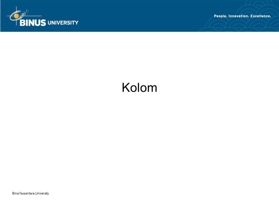 Kolom Bina Nusantara University