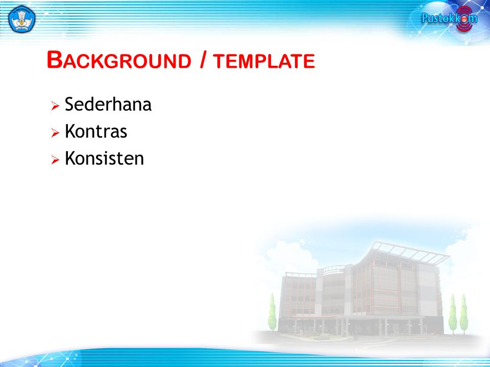 Background / template Sederhana Kontras Konsisten