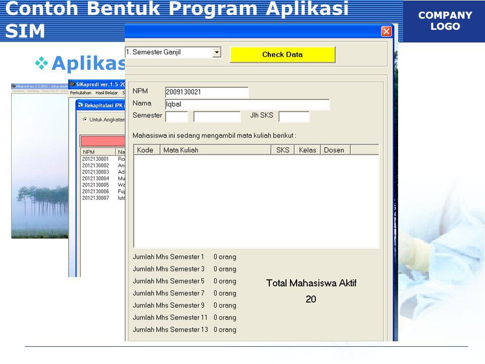 Contoh Bentuk Program Aplikasi SIM