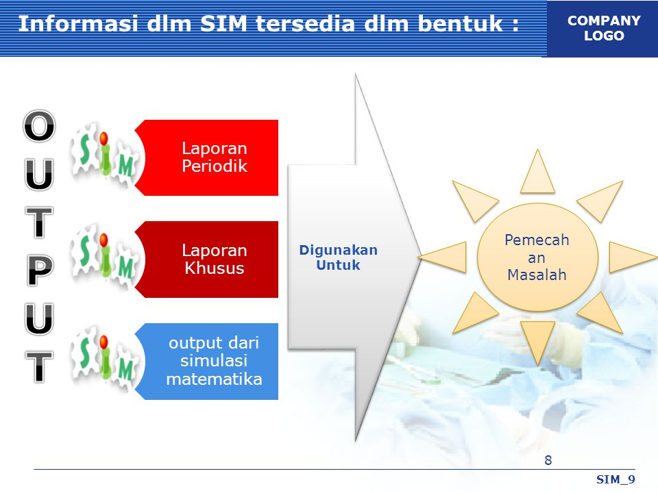 Informasi dlm SIM tersedia dlm bentuk :