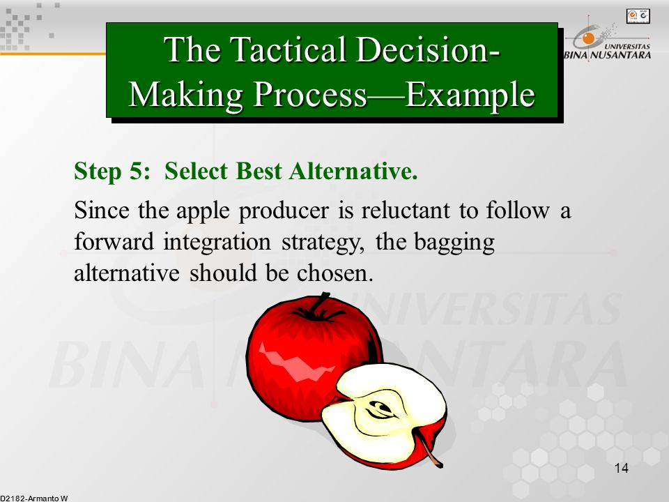 The Tactical Decision-Making Process—Example