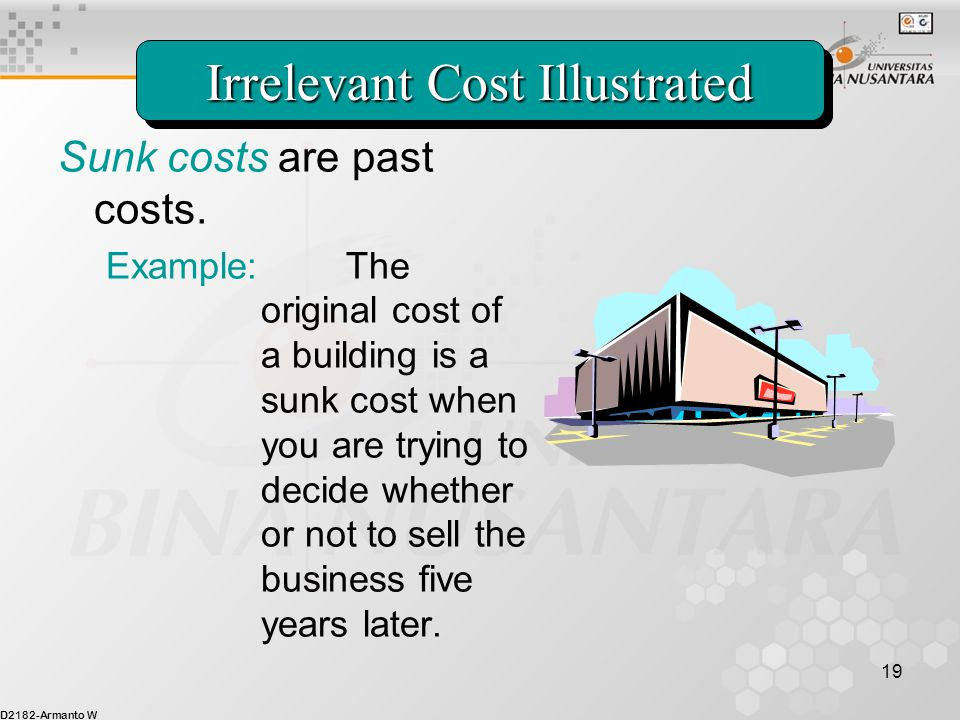 Irrelevant Cost Illustrated