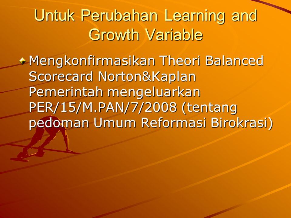 Untuk Perubahan Learning and Growth Variable