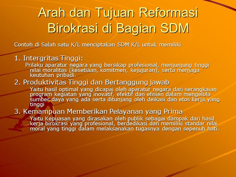 Arah dan Tujuan Reformasi Birokrasi di Bagian SDM