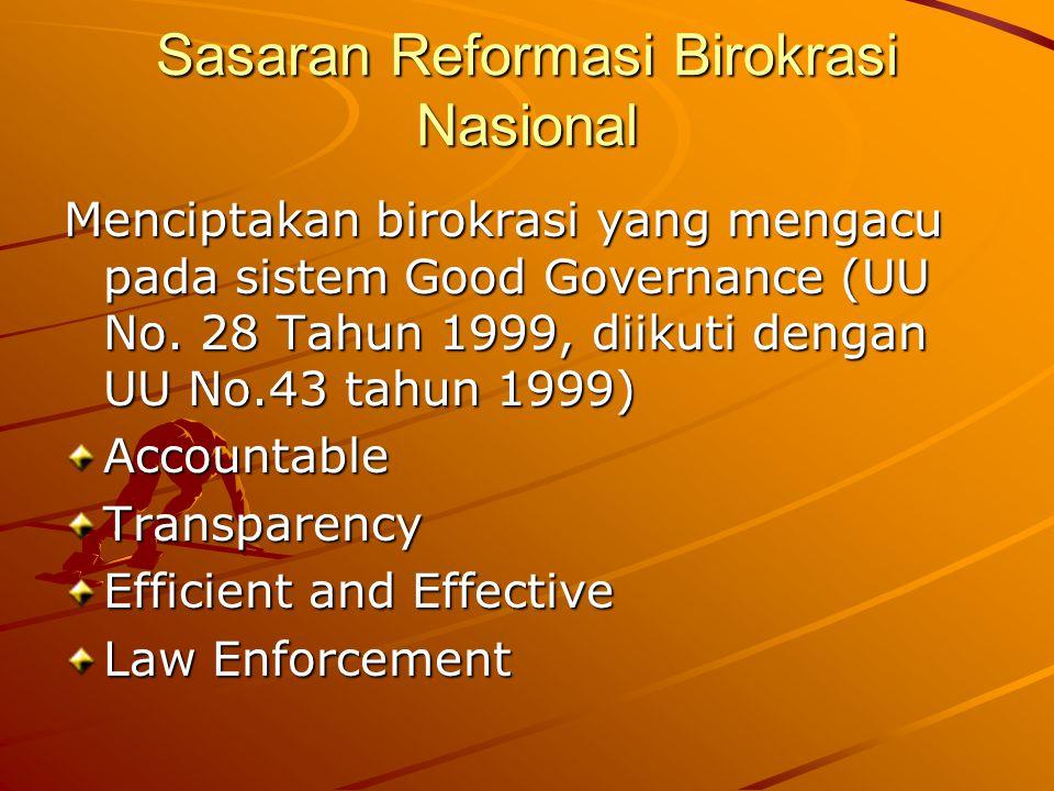 Sasaran Reformasi Birokrasi Nasional