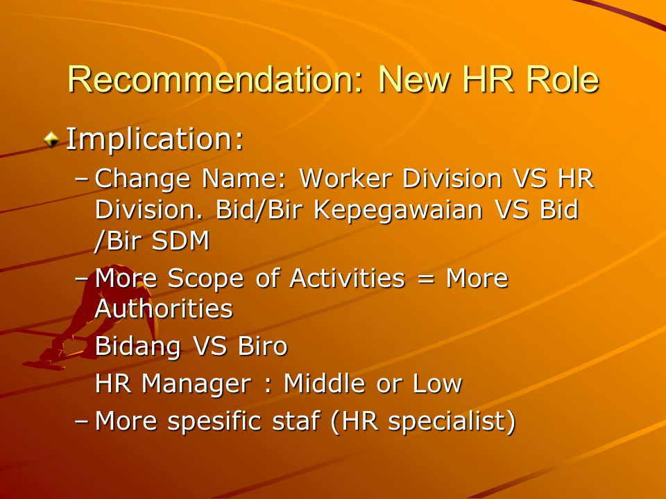 Recommendation: New HR Role