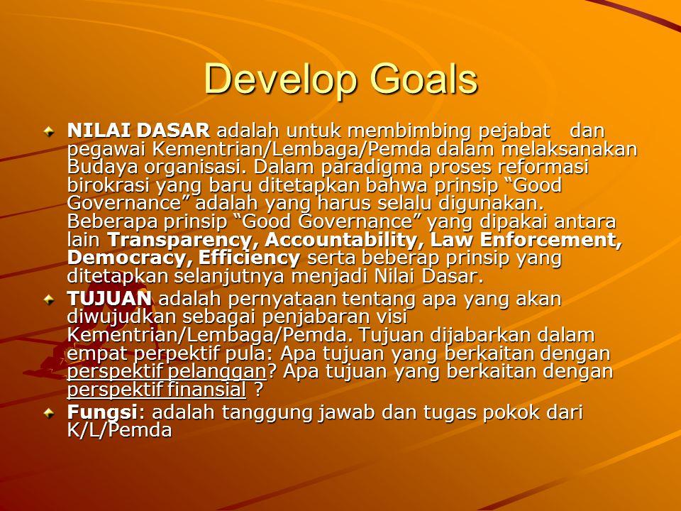 Develop Goals