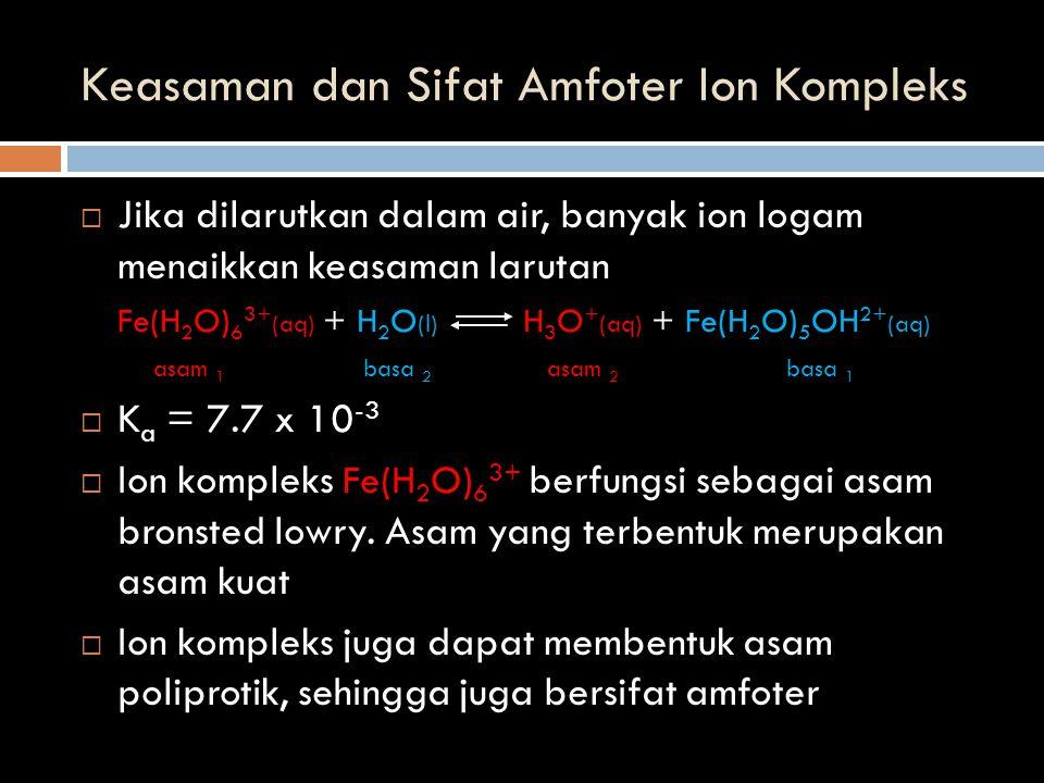 Keasaman dan Sifat Amfoter Ion Kompleks