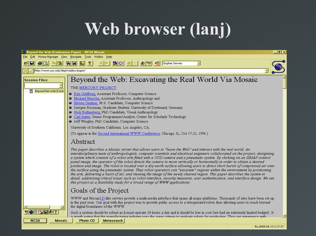 Web browser (lanj)