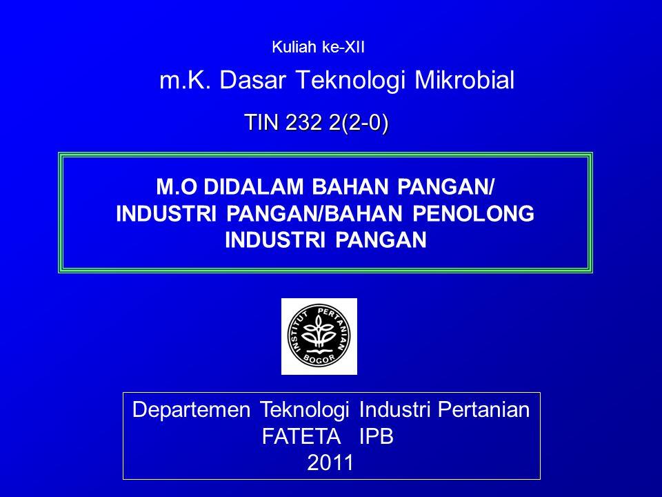m.K. Dasar Teknologi Mikrobial