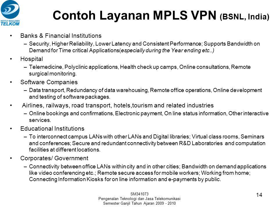 Contoh Layanan MPLS VPN (BSNL, India)