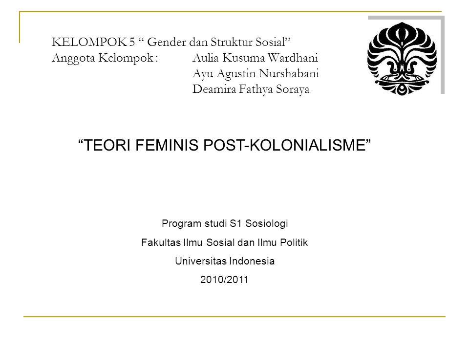 TEORI FEMINIS POST-KOLONIALISME