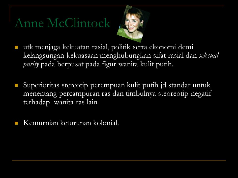 Anne McClintock