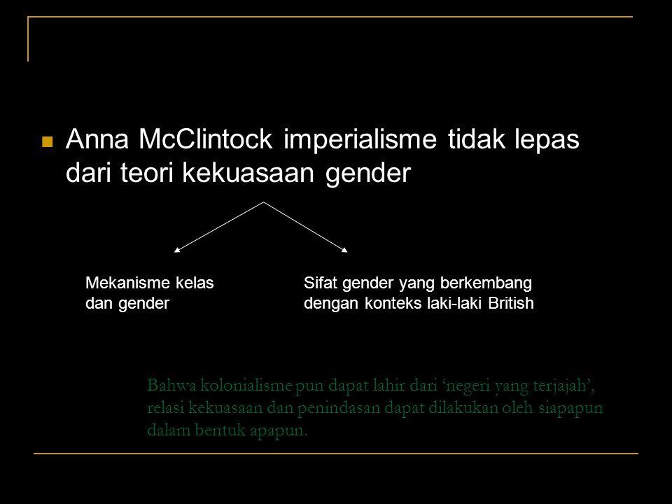 Anna McClintock imperialisme tidak lepas dari teori kekuasaan gender