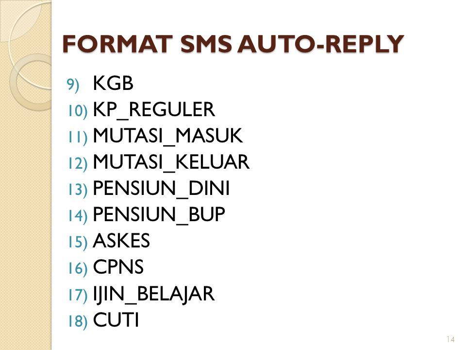 FORMAT SMS AUTO-REPLY KGB KP_REGULER MUTASI_MASUK MUTASI_KELUAR