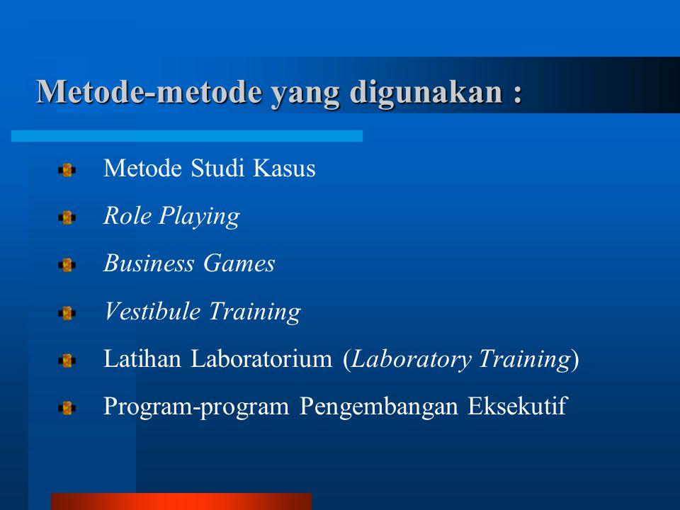 Metode-metode yang digunakan :