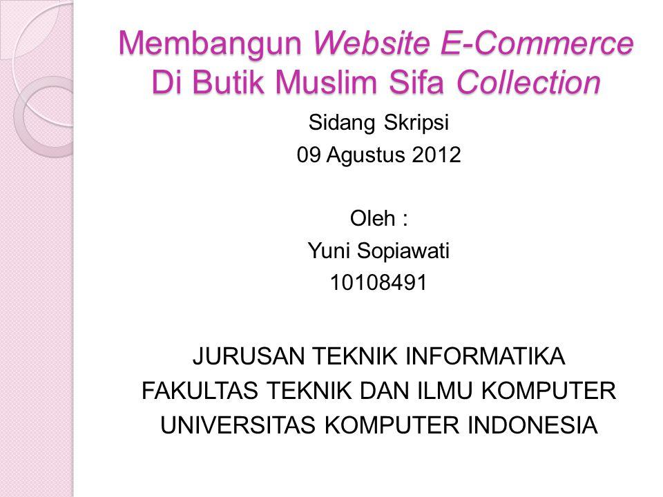 Membangun Website E-Commerce Di Butik Muslim Sifa Collection