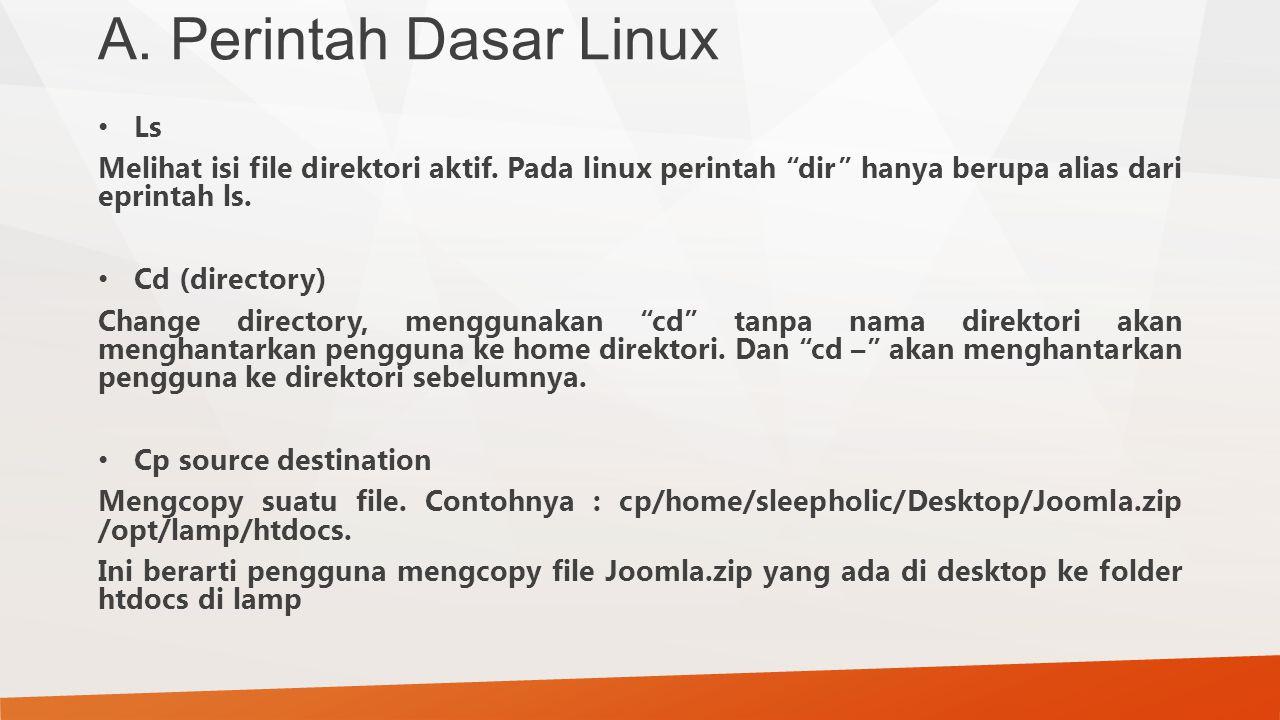 A. Perintah Dasar Linux Ls