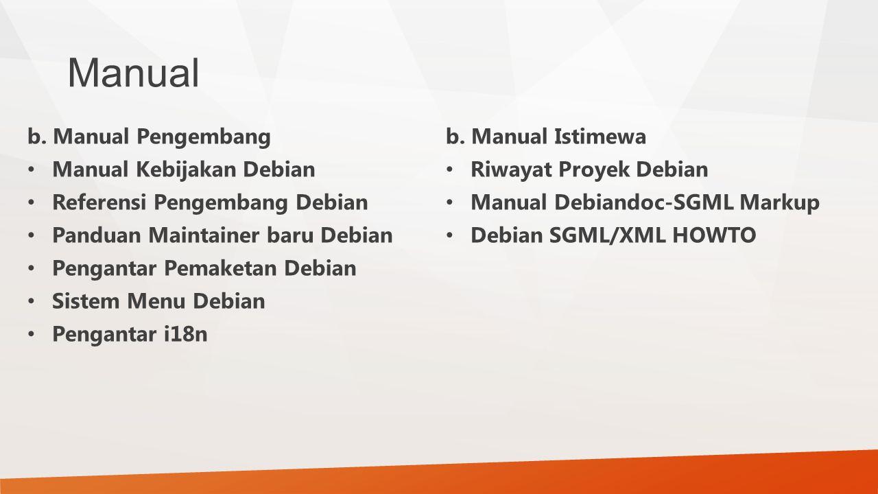 Manual b. Manual Pengembang Manual Kebijakan Debian