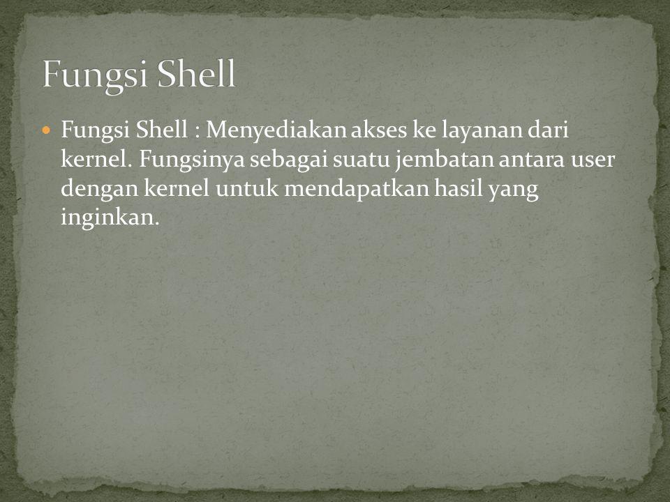 Fungsi Shell